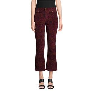 Free People | Graphic Flared Cropped Pants sz 8
